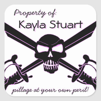 """""""Pillage at Your Own Peril"""" Property of: Stickers"""