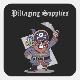Pillaging Supplies Square Sticker