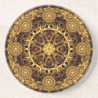 Pillar of Ages Mandala Beverage Coaster