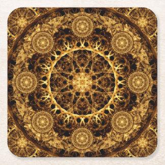 Pillar of Ages Mandala Square Paper Coaster