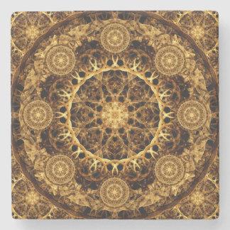 Pillar of Ages Mandala Stone Coaster