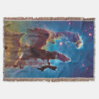 Pillars of Creation M16 Eagle Nebula Space Photo Throw Blanket