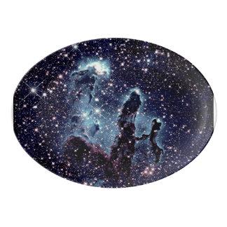 Pillars of Creation Nebula Serving Platter Porcelain Serving Platter