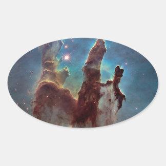 Pillars of Creation Oval Sticker