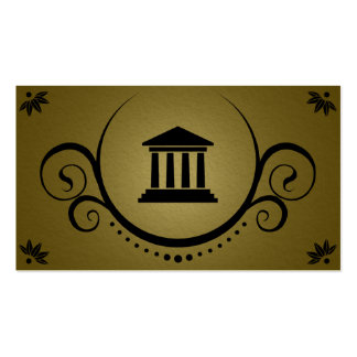 pillars of justice sophistications business card