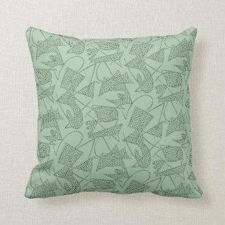 Pillow ATOMIC BOOMERANG 50s RETRO SEAFOAM GREEN
