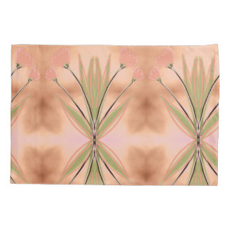 Pillow Cases In Pink Coral and Greens