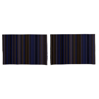 pillow cases retro brown purple blue stripe
