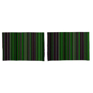 pillow cases Retro stripe lime green purple