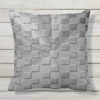 Pillow -  Designed in Grey/Graphic Shape