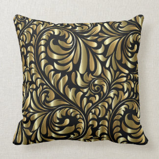 Pillow - Drama in Black and Gold
