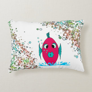 PILLOW FOR BABY OR TODDLER FISH IN WATER & BUBBLES