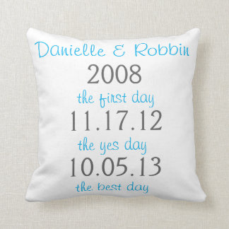 Pillow for wedding anniversary