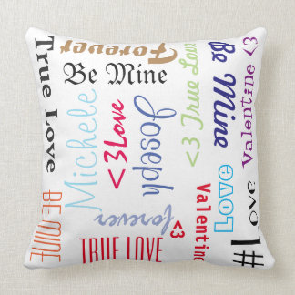 Pillow Forever Love Be Mine Valentine Personalized