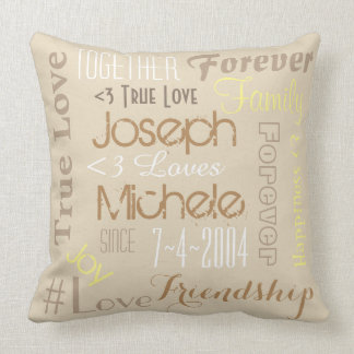Pillow Forever Love Personalized Names and Date