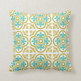 Pillow - Gold and blue Medieval Pattern