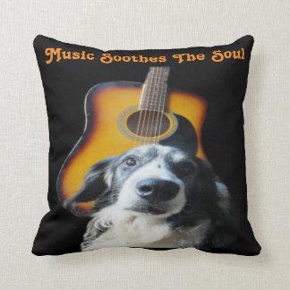 Pillow Guitar Dog