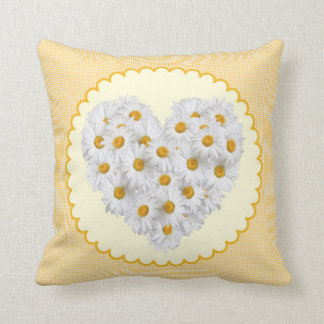 Pillow heart of daisies flower
