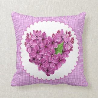 Pillow heart of lilac flower