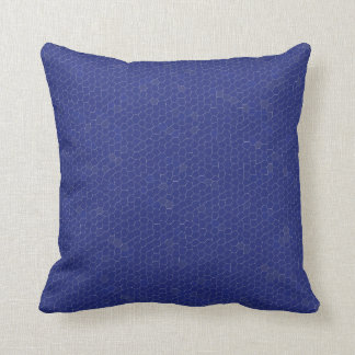 Pillow in Blue Satin Mosaic