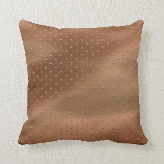 Pillow in Bronze Beaded Look