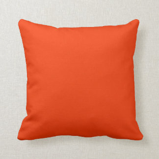 Pillow in Burnt Orange Solid Color