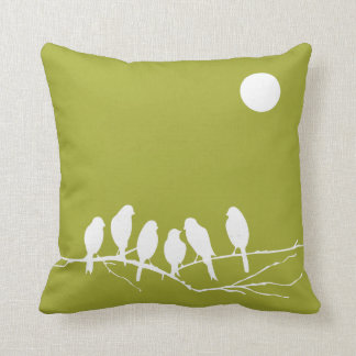 Pillow in Grean Pear with Birds