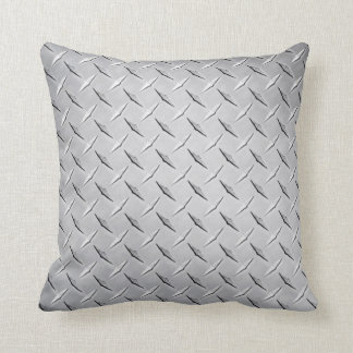 Pillow in Silver Diamond Plate