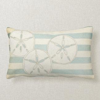 Pillow: Light Blue Sand Dollars Lumbar Pillow