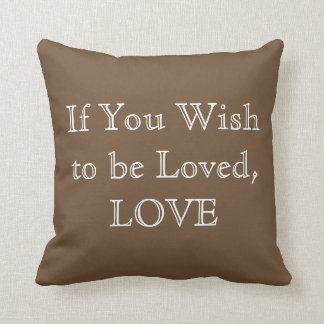 Pillow - Love - Brown