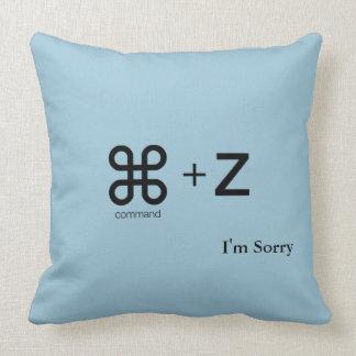 Pillow (Mac Undo Command+Z) Sorry Apology Gift