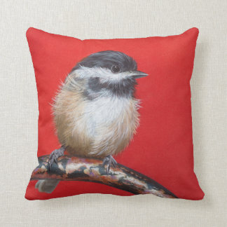 """Pillow """"My Little Chickadee"""" by Camille Engel"""