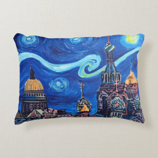 Pillow of Starry Night in Saint Petersburg Russia