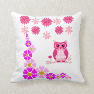 Pillow owl, pink and purple double sided comfort