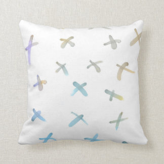 pillow painted watercolor style abstract design