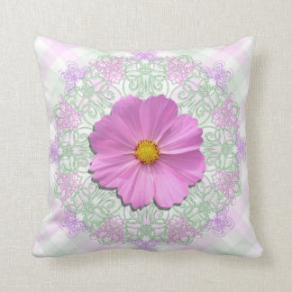 Pillow - Personalized - Medium Pink Cosmos Lace