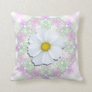 Pillow - Personalized - White Cosmos Lace Lattice