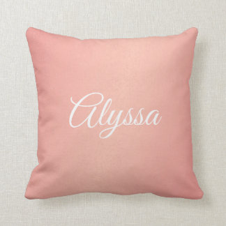 Pillow - Pink Confetti Name