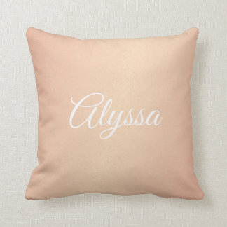 Pillow - Rose Gold Confetti Name