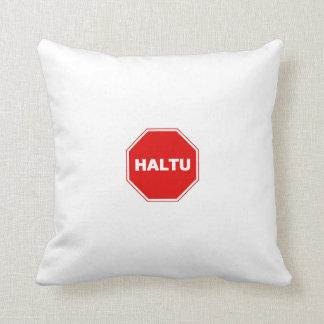 Pillow stop in esperanto