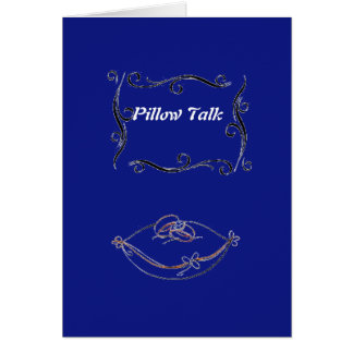 Pillow Talk Greeting Card