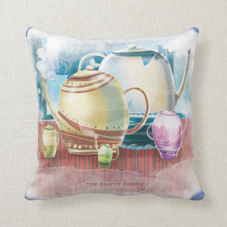 "Pillow "" Teapot Family"""