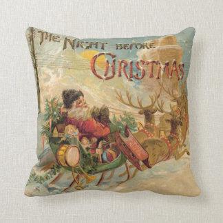 "Pillow ""The Night before Christmas"" Santa Sleigh"
