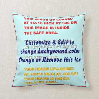 "Pillow Throw Polyester 16"" x 16"" 2 Sides"