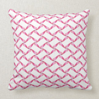 Pillow with a pink geometric abstract design