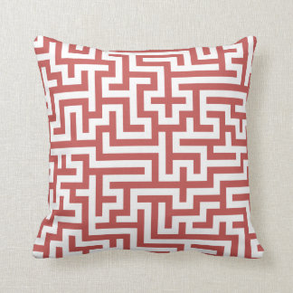 Pillow with Cayenne Maze Pattern