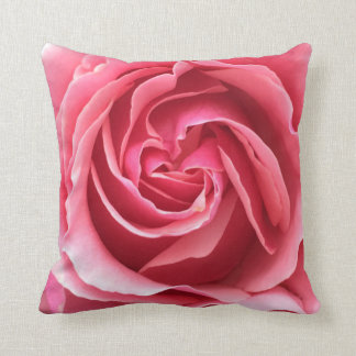 Pillow with close up photo of pink rose