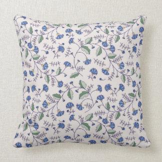 Pillow with Cornflower