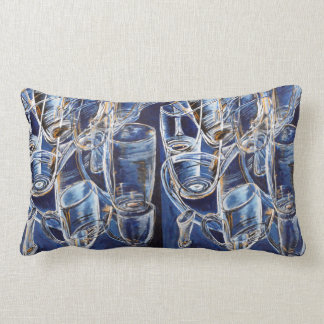 Pillow with glasses in blue