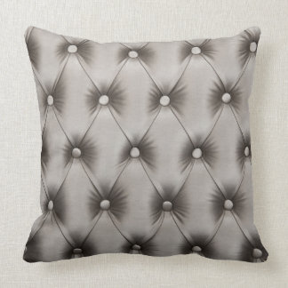 Pillow with Grey & Teal capitone